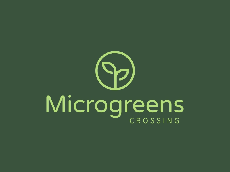 Microgreens logo design