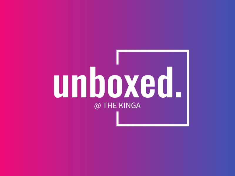 unboxed. logo design