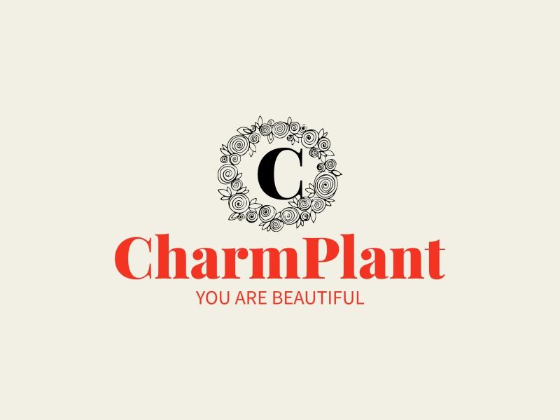 CharmPlant logo design