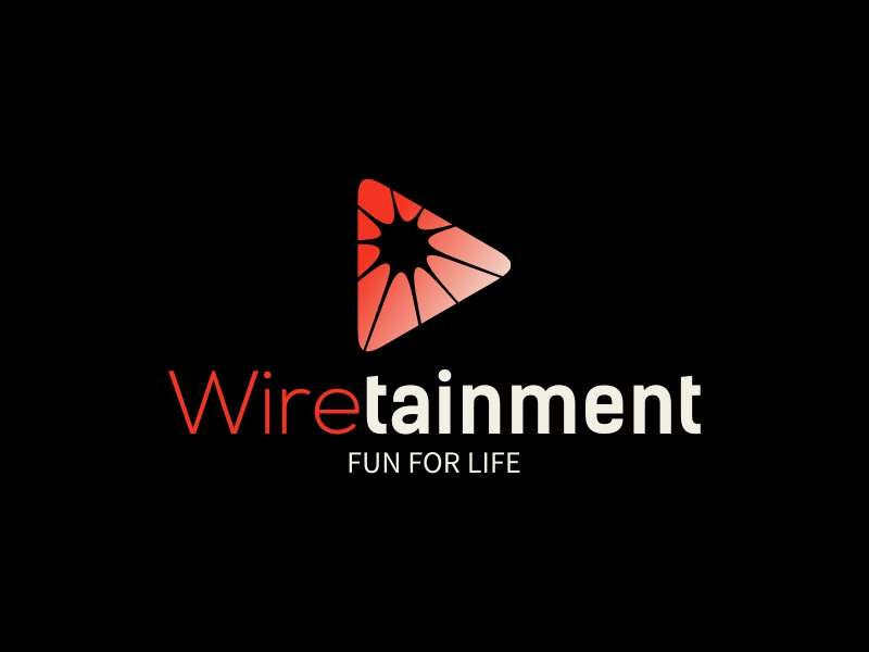 Wire tainment logo design