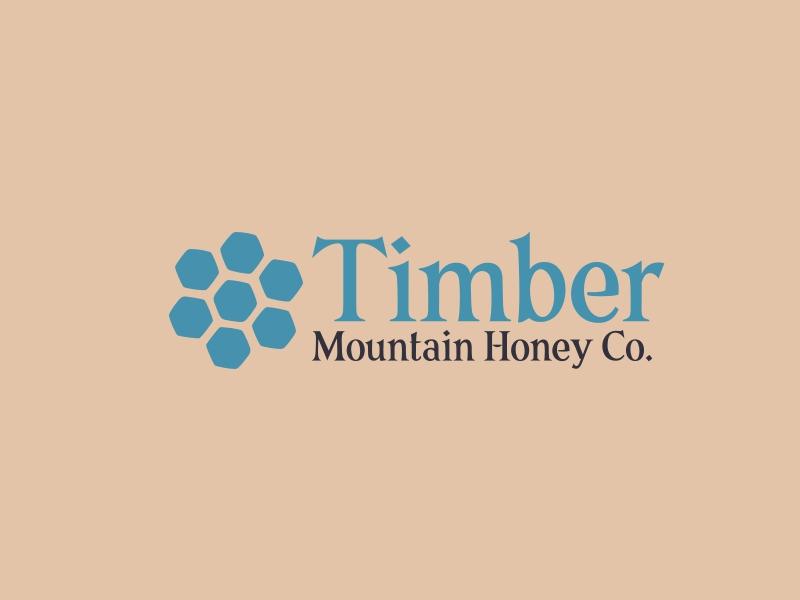 Timber Mountain Honey Co. logo design