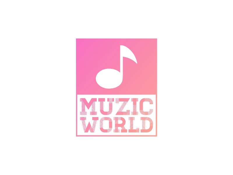 MUZIC WORLD logo design