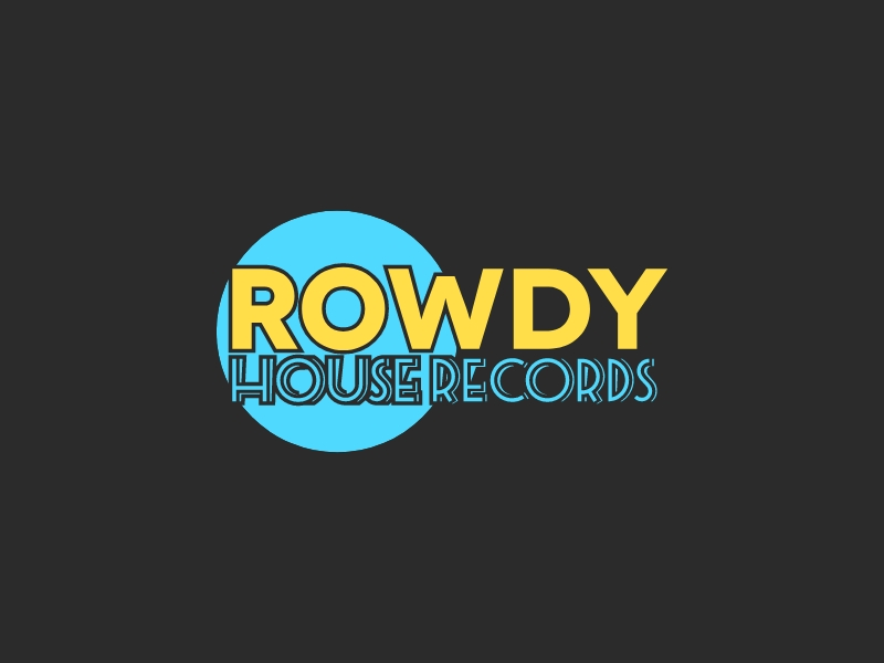 ROWDY HOUSE RECORDS logo design