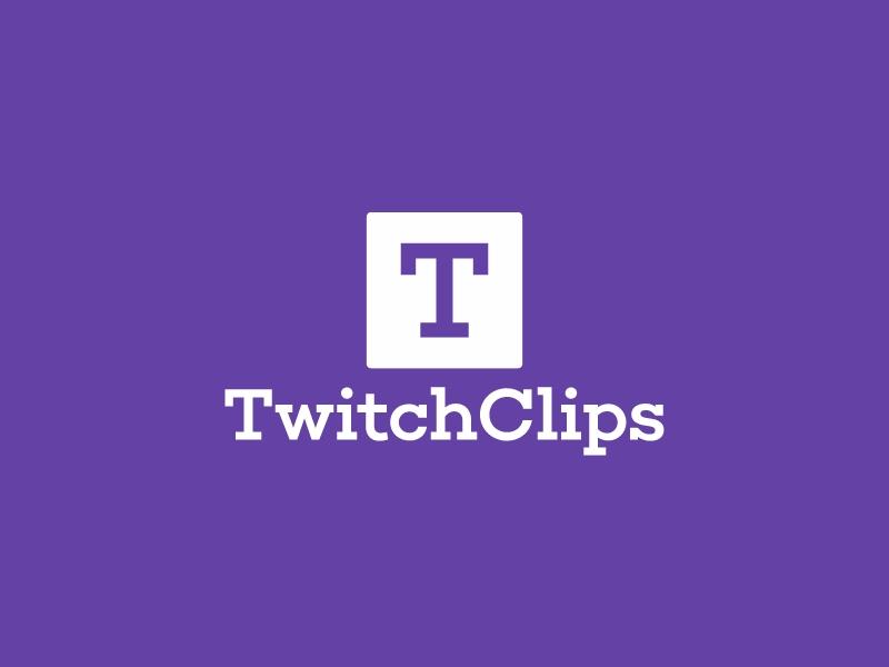 TwitchClips logo design