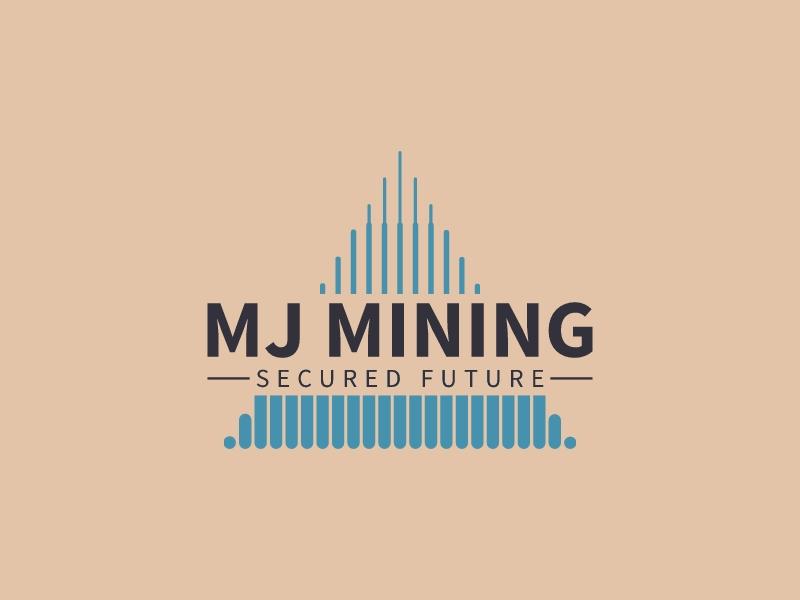 MJ MINING logo design