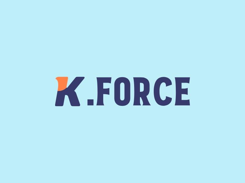 K.FORCE logo design
