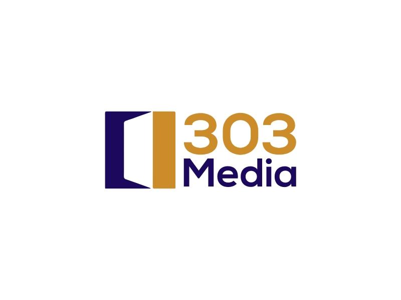 303 Media logo design