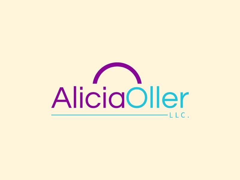 Alicia Oller logo design