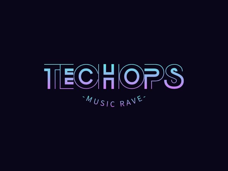 TECHOPS logo design