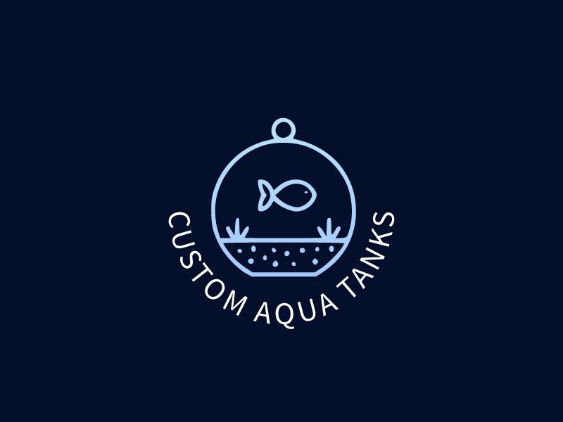 Custom Aqua Tanks logo design
