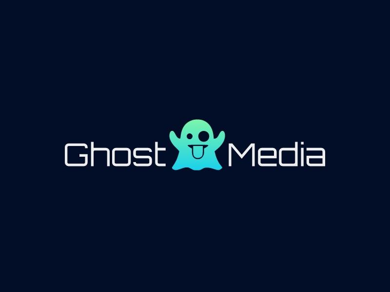 Ghost Media logo design