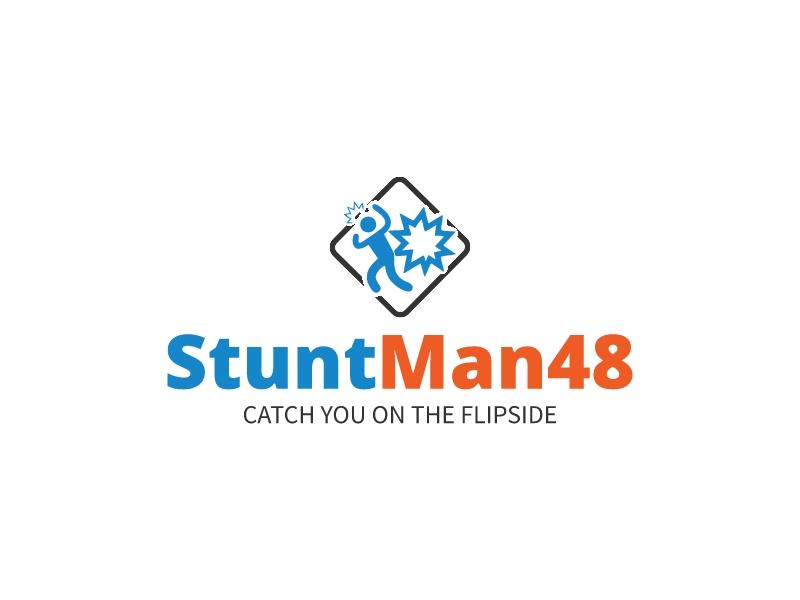 Stunt Man48 logo design