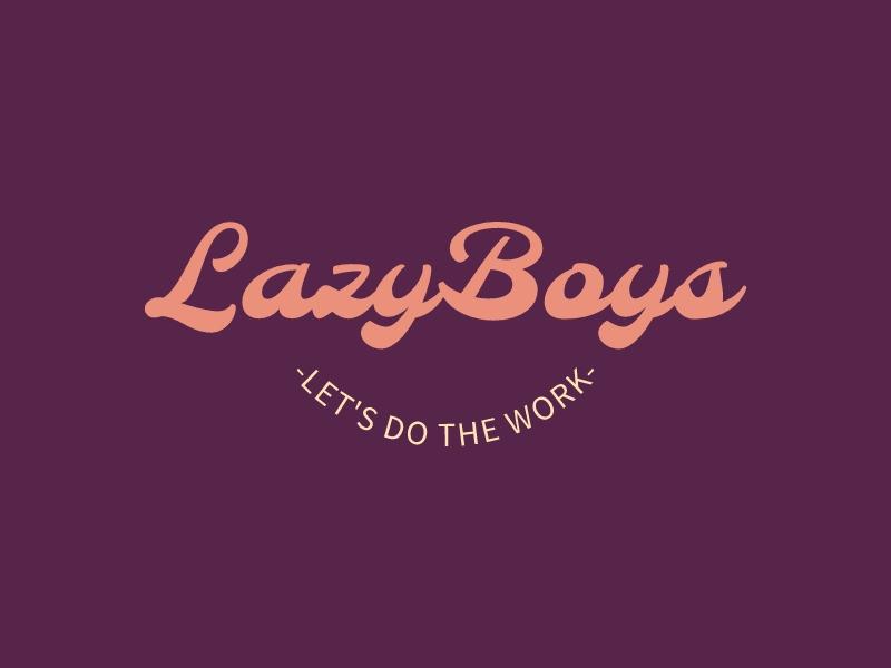 LazyBoys logo design